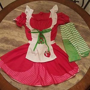 Halloween Costume Girls Strawberry Shortcake
